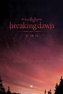 Poster de la pelicula Amanecer, de la Saga Crepusculo de Twilight
